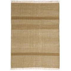 Tres Ochre Hand-Loomed Wool and Felt Texture Rug by Nani Marquina