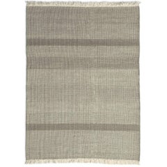 Tres Pearl Hand-Loomed Wool and Felt Texture Rug by Nani Marquina in Stock