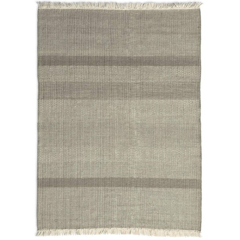 Tres Pearl Hand-Loomed Wool and Felt Texture Rug by Nani Marquina For Sale