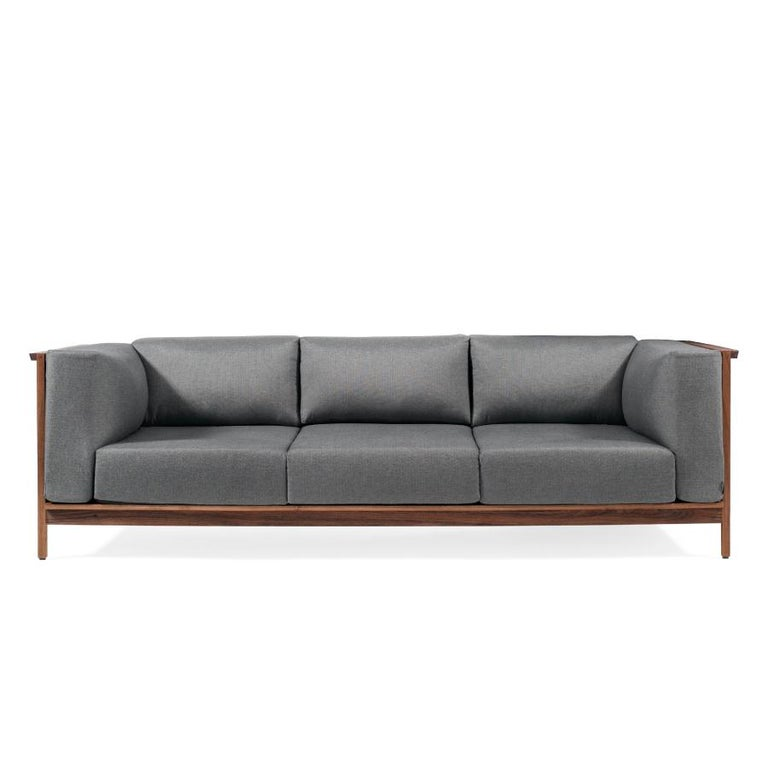 Modern Tres Plazas Confort, Mexican Contemporary Sofa by Emiliano Molina for Cuchara For Sale