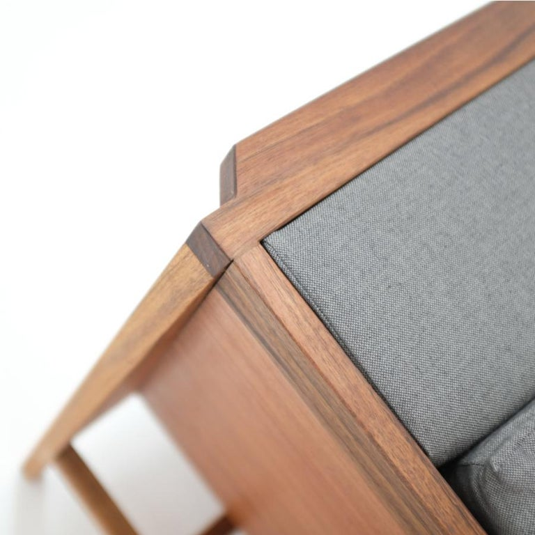 Woodwork Tres Plazas Confort, Mexican Contemporary Sofa by Emiliano Molina for Cuchara For Sale