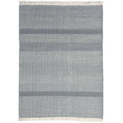 Tres Sage Hand-Loomed Wool and Felt Texture Rug by Nani Marquina