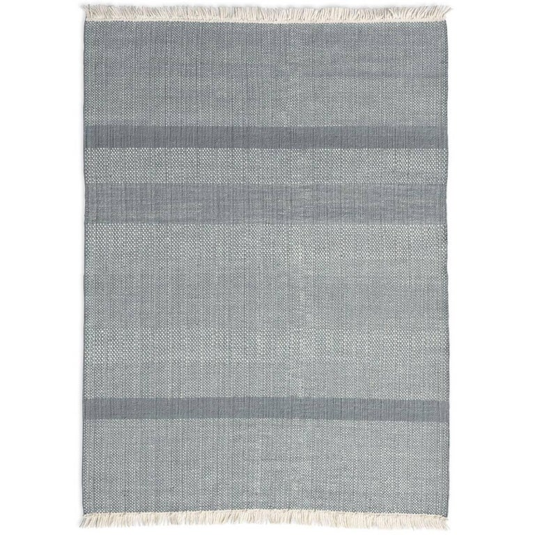 Tres Sage Hand-Loomed Wool and Felt Texture Rug by Nani Marquina in Stock