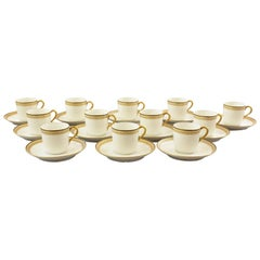Tressemann & Vogt Cappuccino Service 12 with Cups and Underplates Pattern 5224