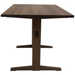 Trestle Base Dining Table in Quartersawn Walnut by Brian Holcombe