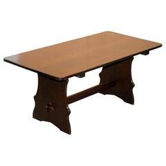 Trestle Bench Stained Dining Table Seats 6 to 8 People Lovely Simple Piece