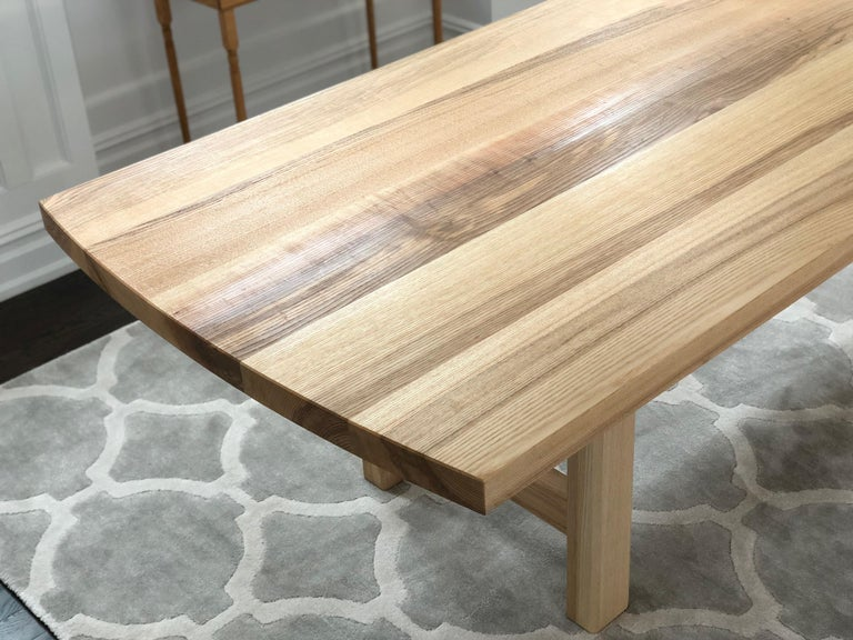 Trestle Leg Dining Table in Oiled Ash For Sale 1