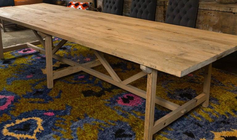 Trestle Leg Farm Table For Sale 4