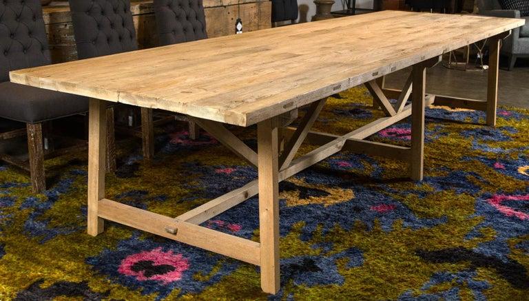Reclaimed elm wood gathering table.