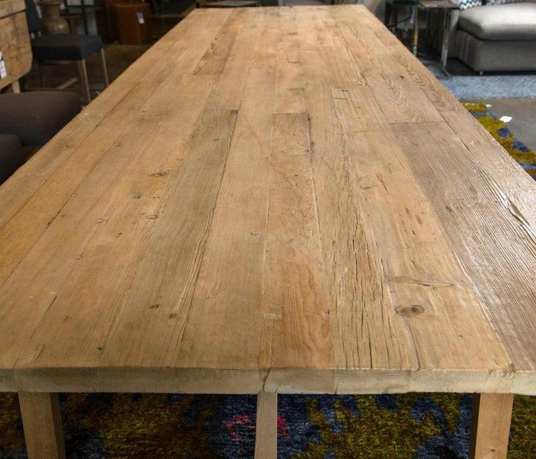 Contemporary Trestle Leg Farm Table For Sale