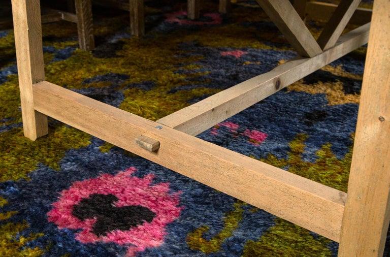 Elm Trestle Leg Farm Table For Sale