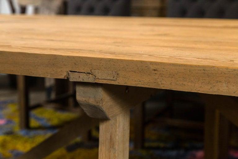 Trestle Leg Farm Table For Sale 3