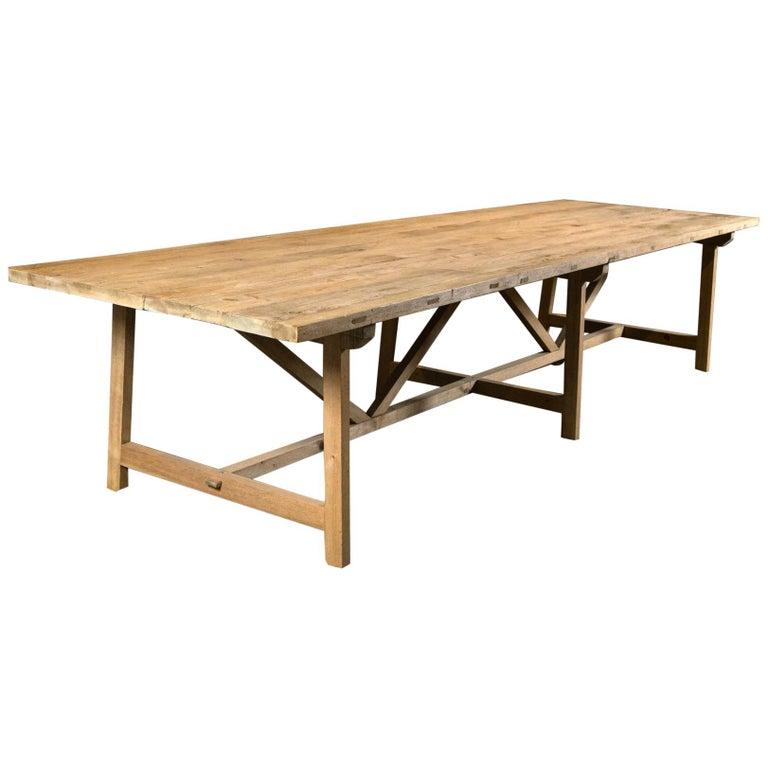 Trestle Leg Farm Table For Sale