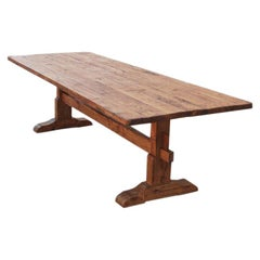Trestle Table in Vintage Pine, Custom Made by Petersen Antiques