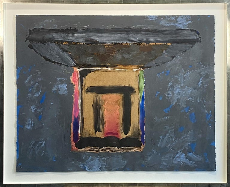 Old Place.  Contemporary Mixed Media Abstract Painting For Sale 1
