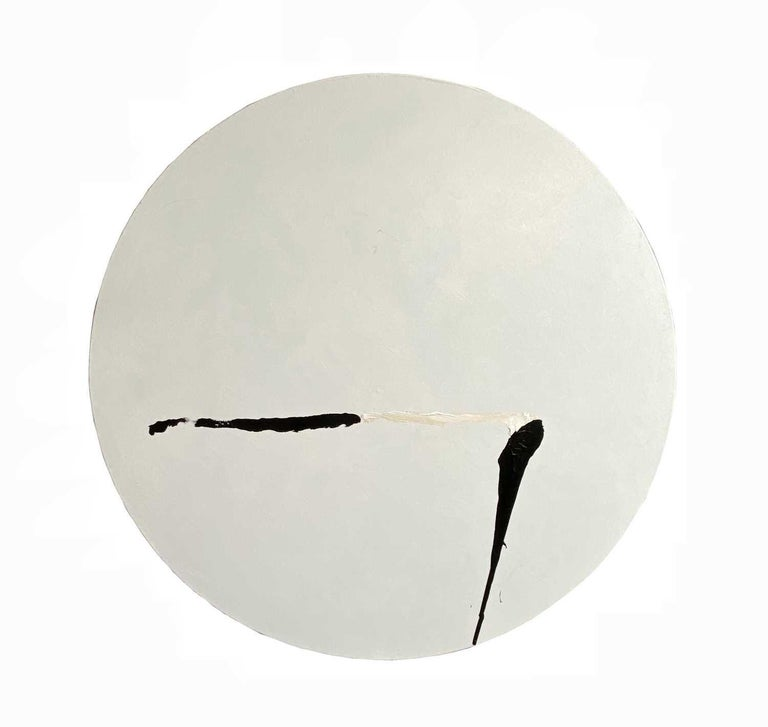 Trevor Bell Figurative Painting - A Simple Dance.  Contemporary Abstract Painting