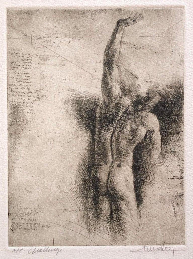 Trevor Southey Nude Print - Challenge