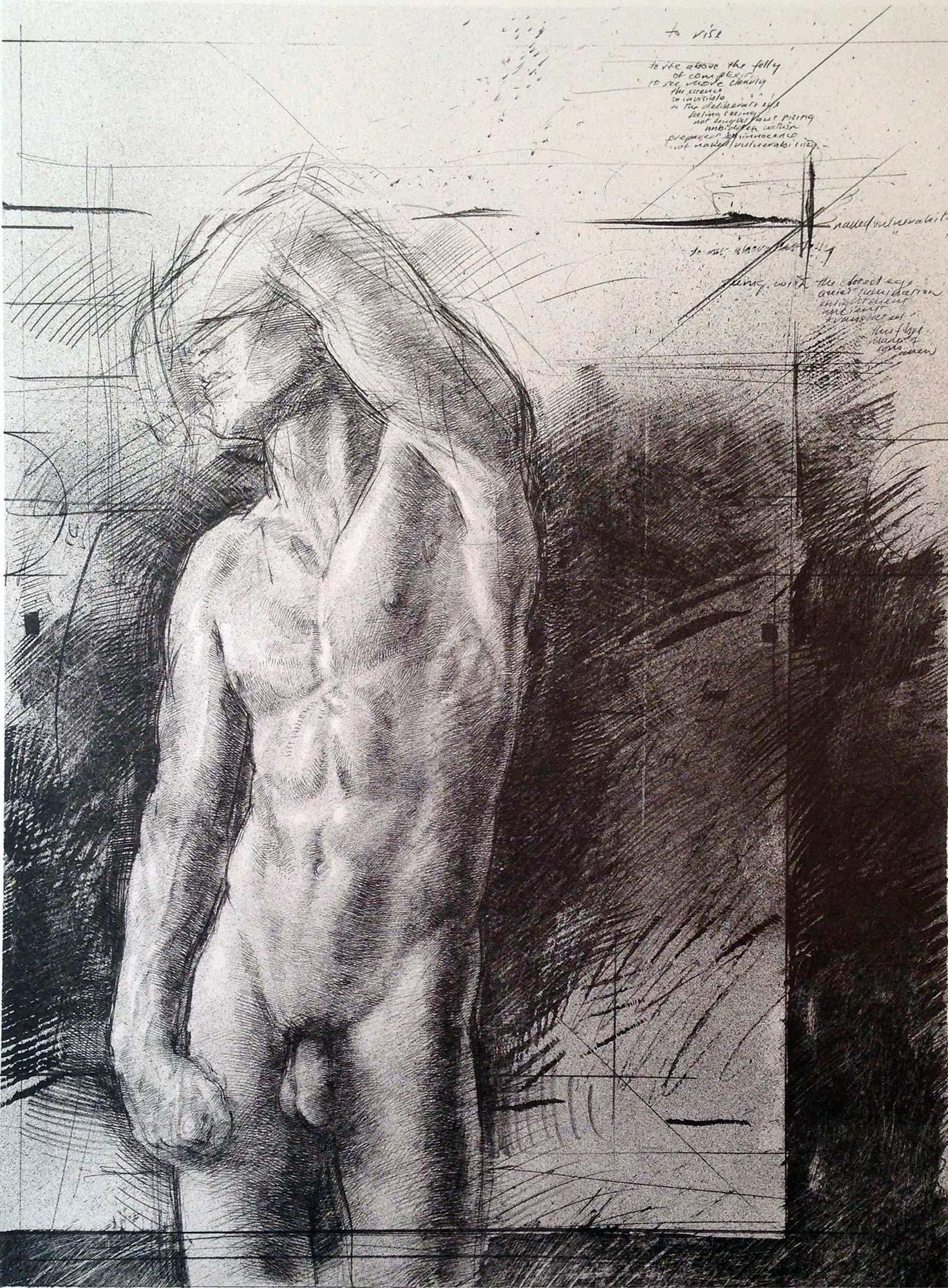 Rising I, lithograph by Trevor Southey