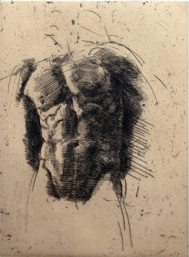 Trevor Southey Nude Print - Torso II