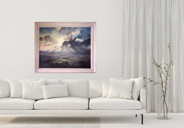 A Wiltshire Sky, Trevor Waugh, Paintings of Wiltshire, Original Oil Paintings For Sale 5
