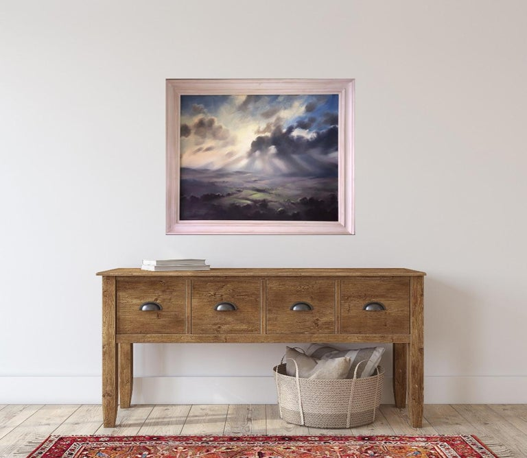 A Wiltshire Sky, Trevor Waugh, Paintings of Wiltshire, Original Oil Paintings For Sale 11