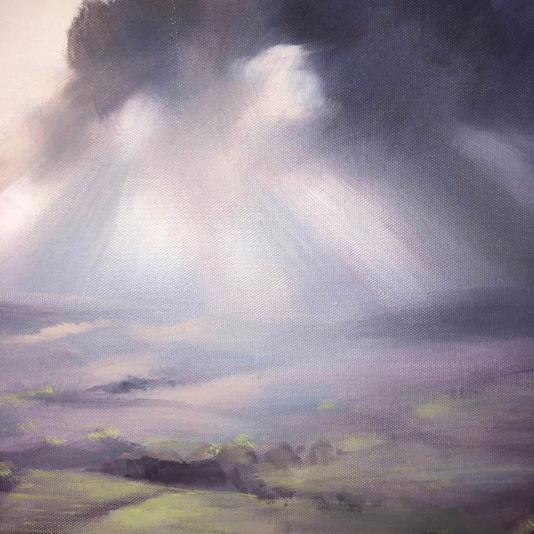 A Wiltshire Sky, Trevor Waugh, Paintings of Wiltshire, Original Oil Paintings For Sale 3