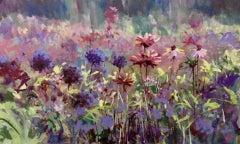 Flower Field, Original Painting, Trevor Waugh, Flower Paintings, Landscape Art