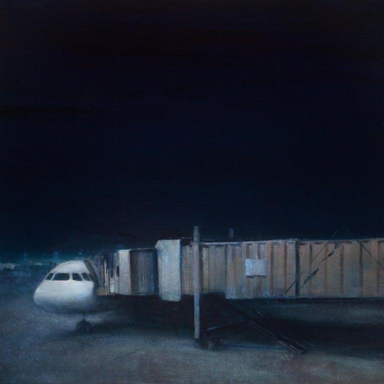 Trevor Young Landscape Painting - Resting Fuselage
