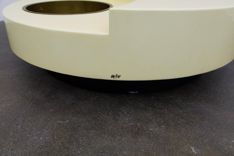 'TRG' Rotating Cocktail Table by Willy Rizzo, circa 1970 Italy, Signed  For Sale 5