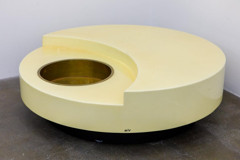 'TRG' Rotating Cocktail Table by Willy Rizzo, circa 1970 Italy, Signed  For Sale 12