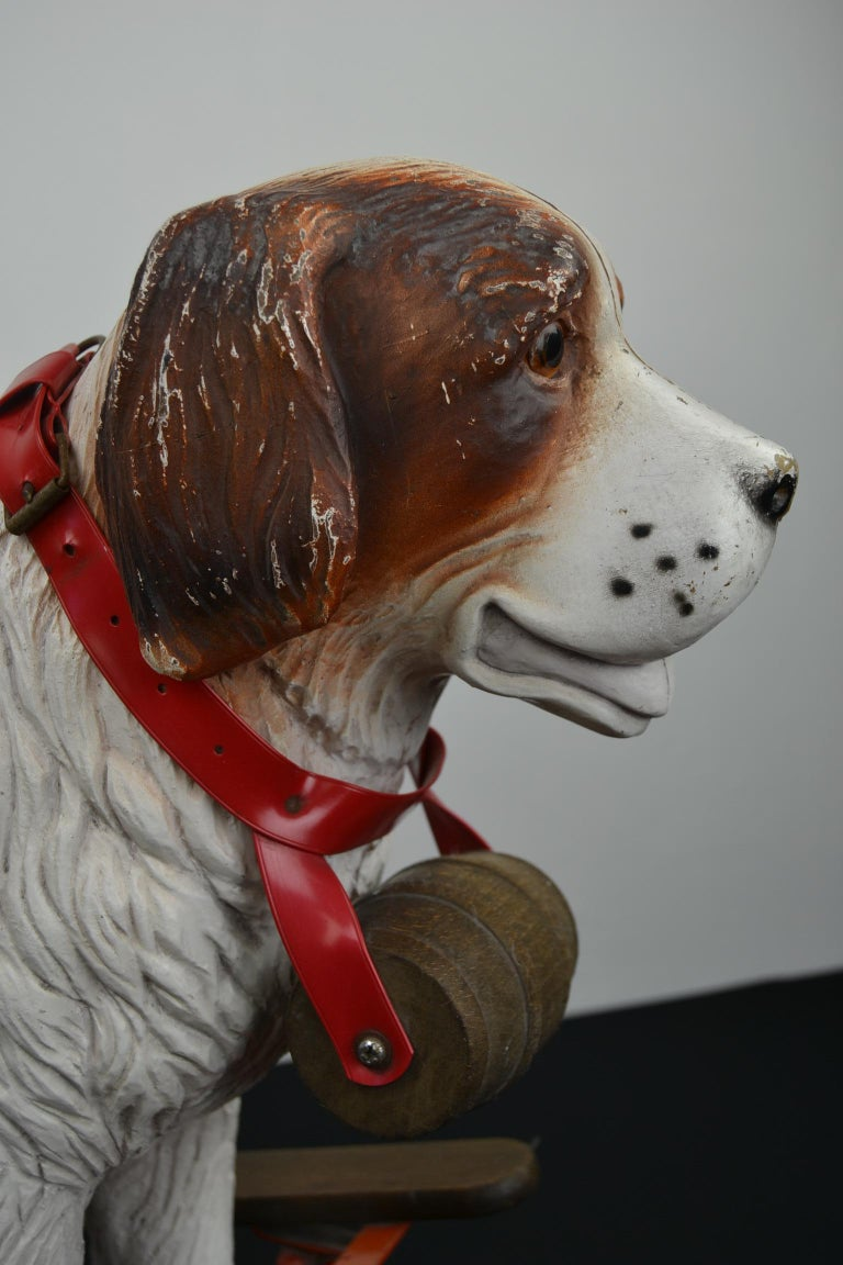 Tri-Ang St Bernard Dog Push Along Toy, 1950s For Sale 4