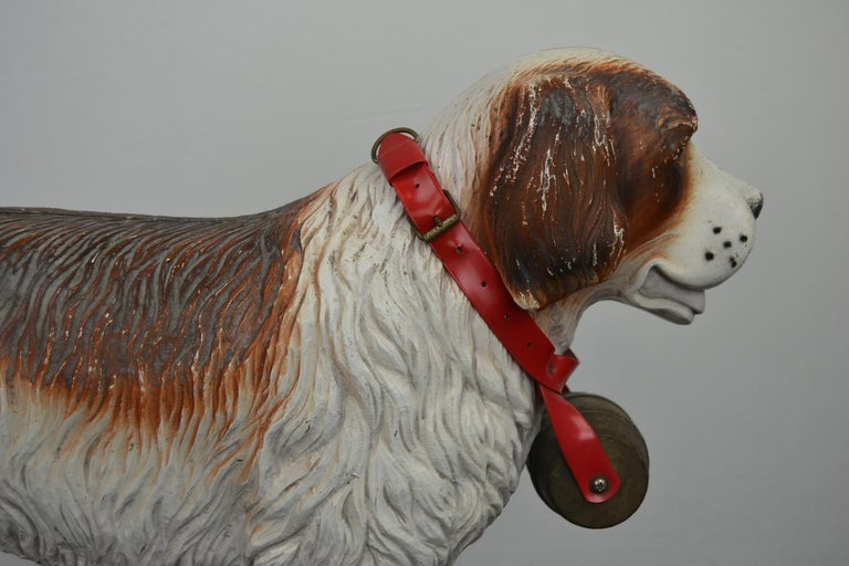 Tri-Ang St Bernard Dog Push Along Toy, 1950s For Sale 5