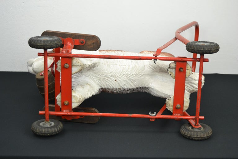 Tri-Ang St Bernard Dog Push Along Toy, 1950s For Sale 6