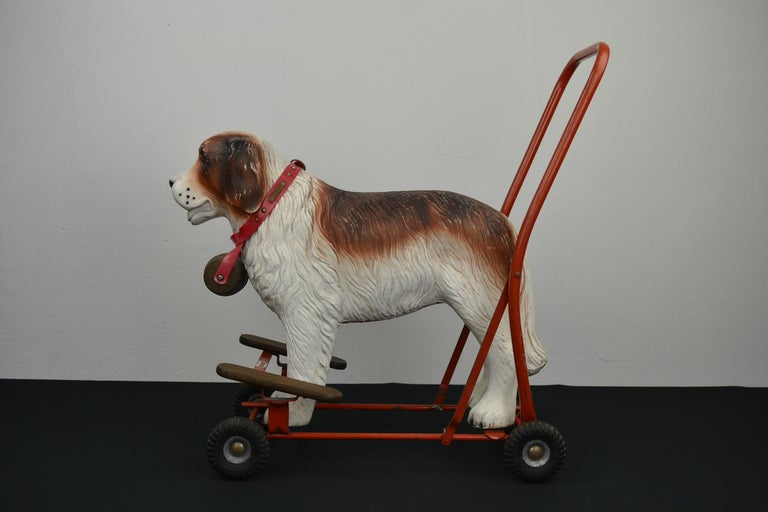 Tri-Ang St Bernard Dog Push Along Toy, 1950s For Sale 11