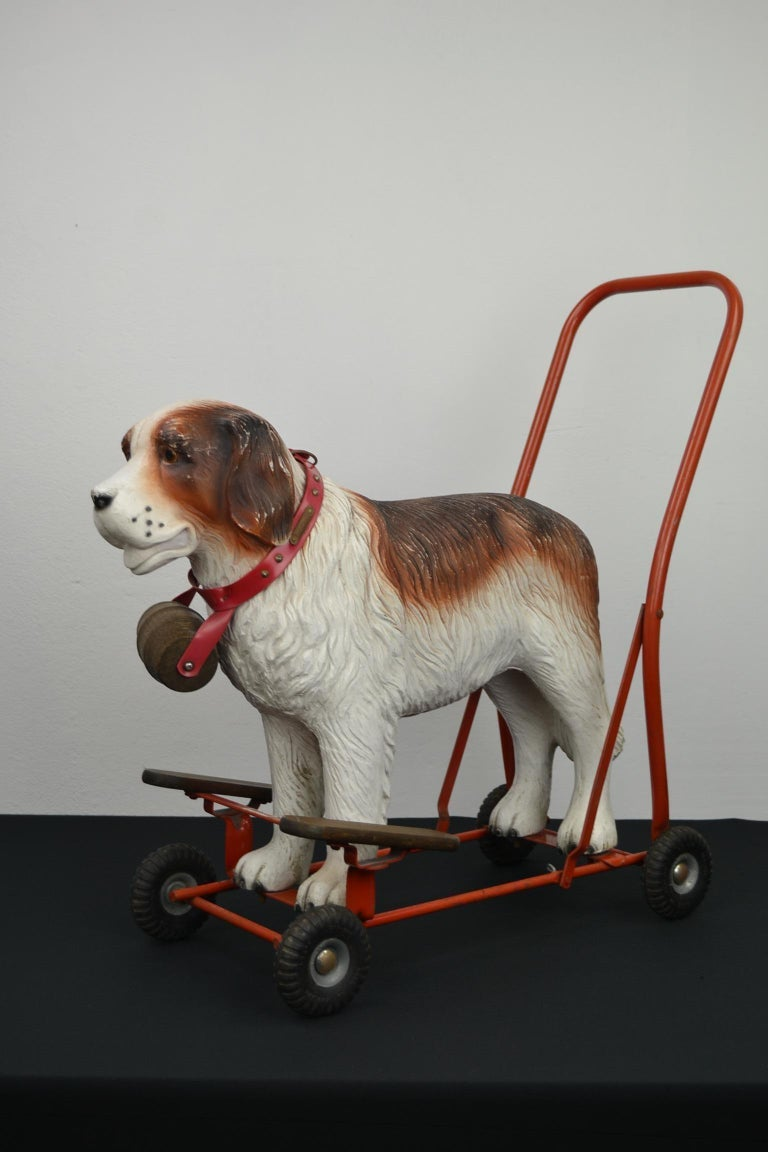Tri-Ang St Bernard Dog Push Along Toy, 1950s For Sale 13