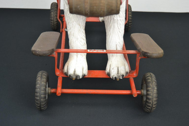Metal Tri-Ang St Bernard Dog Push Along Toy, 1950s For Sale