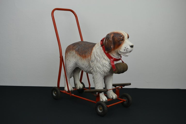Tri-Ang St Bernard Dog Push Along Toy, 1950s For Sale 2