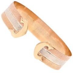 Tri-Color 18 Karat Gold Cuff Bracelet