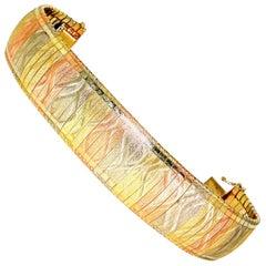 Tri-Color Gold Flexible Bracelet