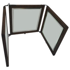 Tri-Fold Travel Vanity or Dresser Mirror with Beveled Glass