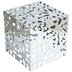 Tri Mark Reticulated Steel Cube Table