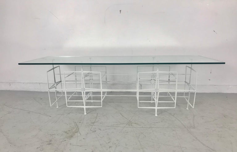 Tri Mark Studios Brutalist Coffee/ Cocktail Table Manner of Paul Evans In Good Condition For Sale In Buffalo, NY