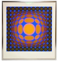 Tri-Vega Silk Screen Print Signed and Numbered by Victor Vasarely 1975