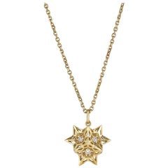 Tria Frame Diamond and 18 Karat Gold Necklace