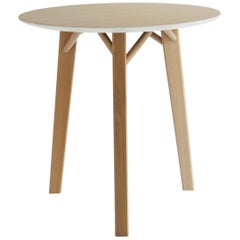 Tria Kiklos Round Table by Colé, Solid Oak Legs, Minimalist Design Icon