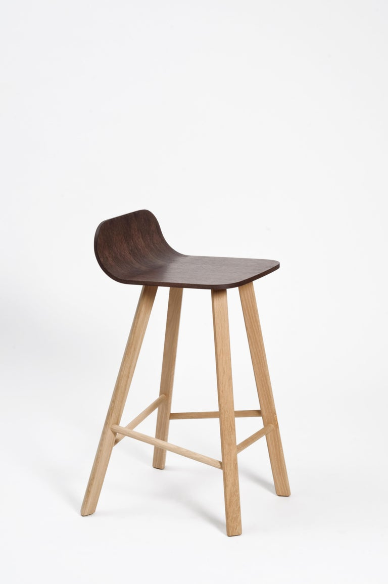 Tria Minimalist Stool HB Fabric by Colé For Sale 4