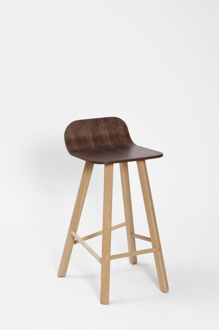 Tria Minimalist Stool HB Fabric by Colé For Sale 7
