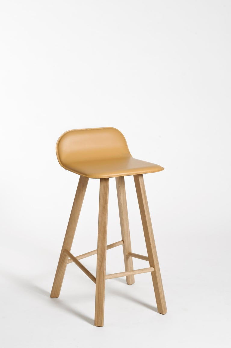Tria Minimalist Stool HB Fabric by Colé For Sale 11