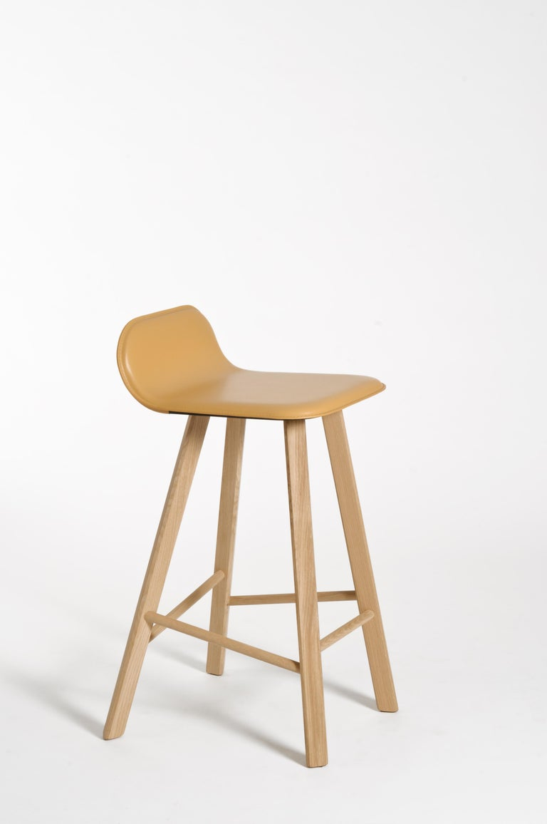 Tria Minimalist Stool HB Fabric by Colé For Sale 12