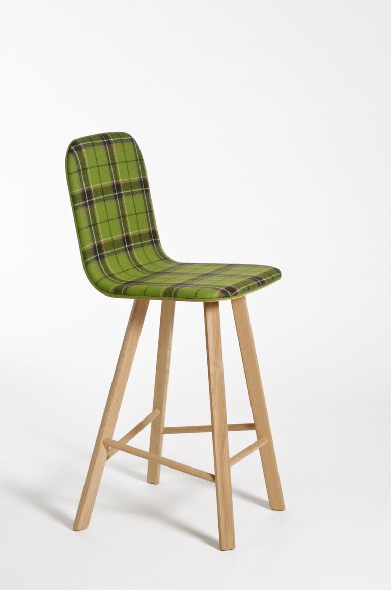 Machine-Made Tria Minimalist Stool HB Fabric by Colé For Sale